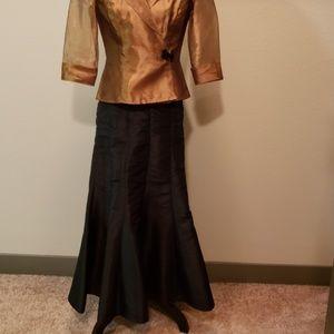 Elegant formal black skirt.